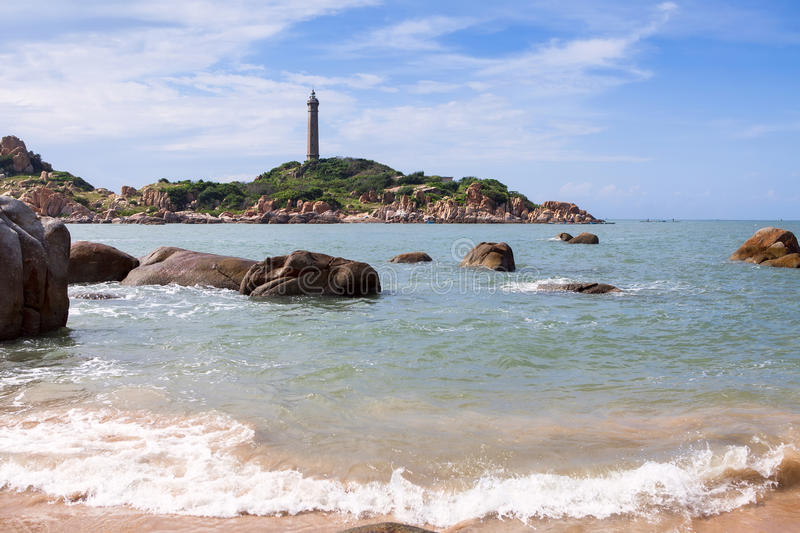 Ke Ga Lighthouse. Binh Thuan province, Vietnam. royalty free stock images