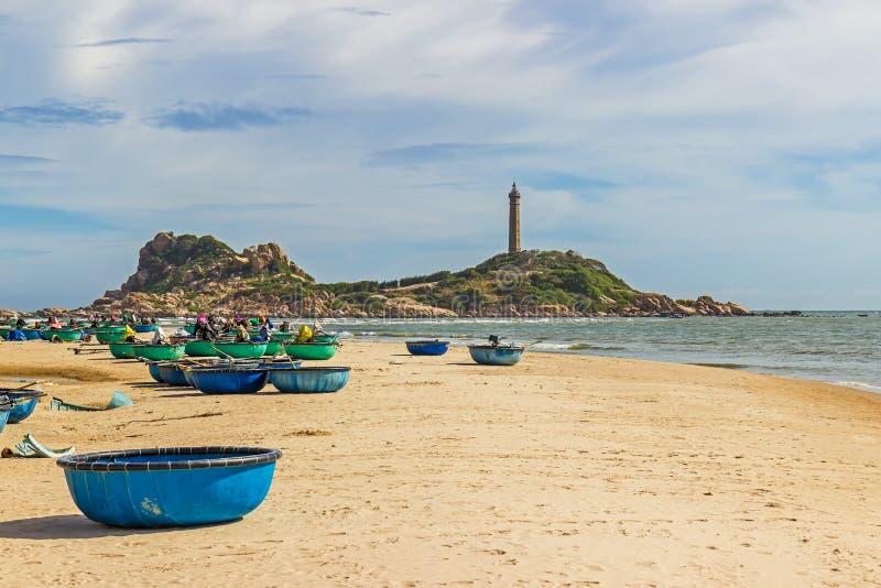 Ke Ga Lighthouse ,the oldest lighthouse of Vietnam. stock image