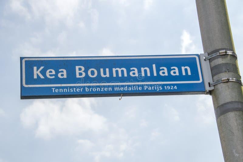 Kea Boumanlaan Street Sign At Amstelveen les Pays-Bas 2019 image stock
