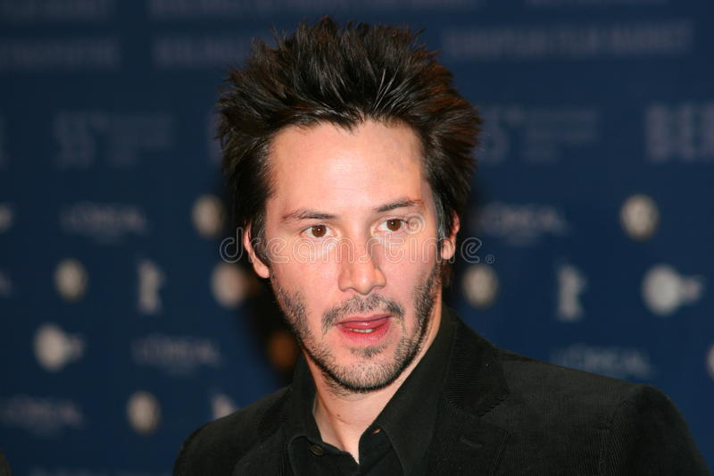 Keanu Reeves. BERLIN - FEBRUARY 11: Keanu Reeves pose at the 'Thumbsucker' Photocall during the 55th annual Berlinale International Film Festival on February 11 royalty free stock photos