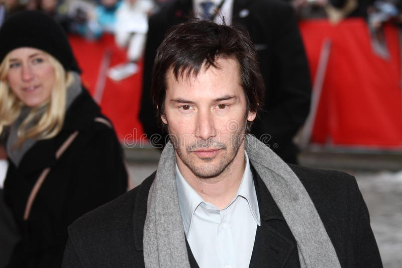 Keanu Reeves. BERLIN, GERMANY - FEBRUARY 15: Keanu Reeves attends the 'Side By Side' Premiere during of the 62nd Berlin Film Festival at the Haus Der Berliner royalty free stock photos