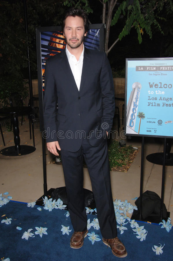 Keanu Reeves. Actor KEANU REEVES at the Los Angeles Film Festival premiere of his new movie A Scanner Darkly at the John Anson Ford Amphitheatre, Los Angeles stock images