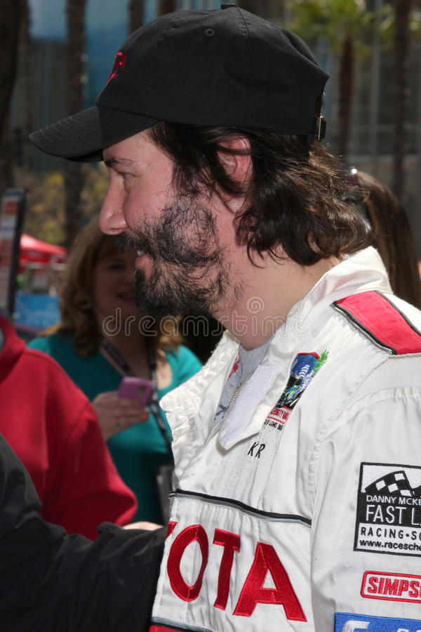 Keanu Reeves. At the Toyota Pro/Celeb Qualifying Day on April 17 ,2009 at the Long Beach Grand Prix course in Long Beach, California royalty free stock image