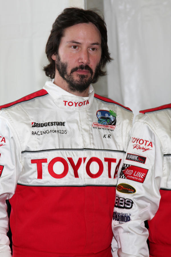 Keanu Reeves. At the 33rd Annual Toyota Pro/Celeb Race Press Day at the Grand Prix track in Long Beach, CA on April 7, 2009 royalty free stock image