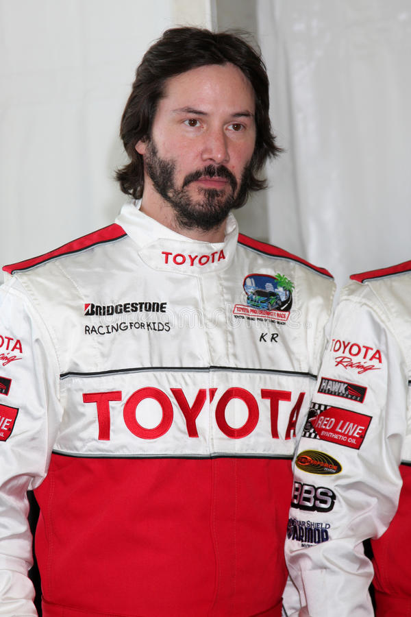 Keanu Reeves. At the 33rd Annual Toyota Pro/Celeb Race Press Day at the Grand Prix track in Long Beach, CA on April 7, 2009 stock photography