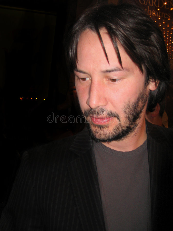 Keanu Reeves. At the Toronto Film Festival stock photography