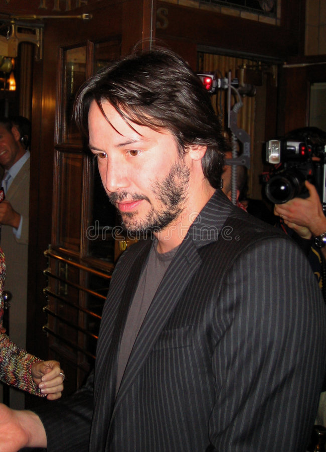 Keanu Reeves. At Toronto Film Festival stock image