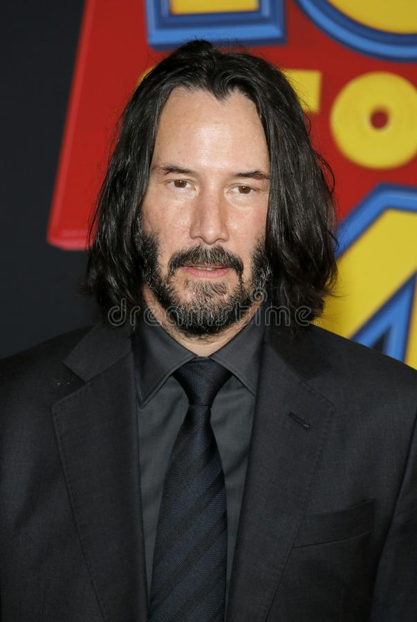 Keanu Reeves. At the World premiere of `Toy Story 4` held at the El Capitan Theater in Hollywood, USA on June 11, 2019 royalty free stock photo