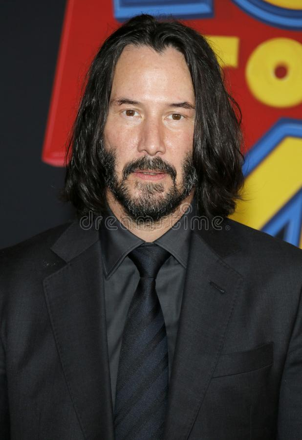 Keanu Reeves. At the World premiere of `Toy Story 4` held at the El Capitan Theater in Hollywood, USA on June 11, 2019 stock images