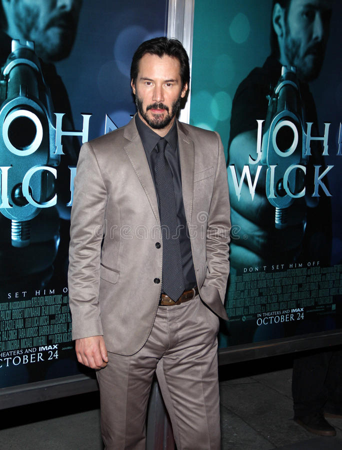 Keanu Reeves. At the Los Angeles premiere of John Wick held at the ArcLight Cinemas in Los Angeles on October 22, 2014 in Los Angeles, California stock image