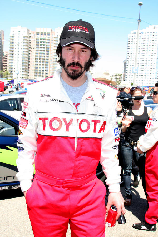 Keanu Reeves. At the 33rd Annual Toyota Pro/Celeb Race Press Day at the Grand Prix track in Long Beach, CA on April 7, 2009 royalty free stock photos