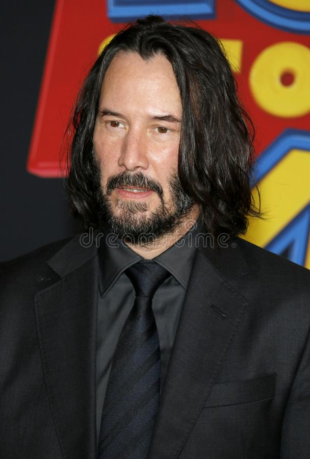 Keanu Reeves. At the World premiere of `Toy Story 4` held at the El Capitan Theater in Hollywood, USA on June 11, 2019 stock photography