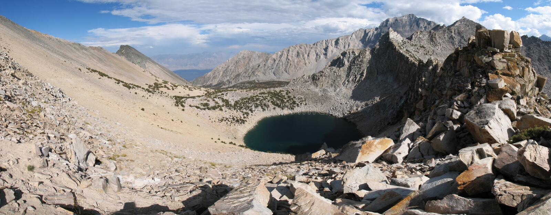 Download Kearsarge Pass panorama stock photo. Image of scenic, tarn - 3210326