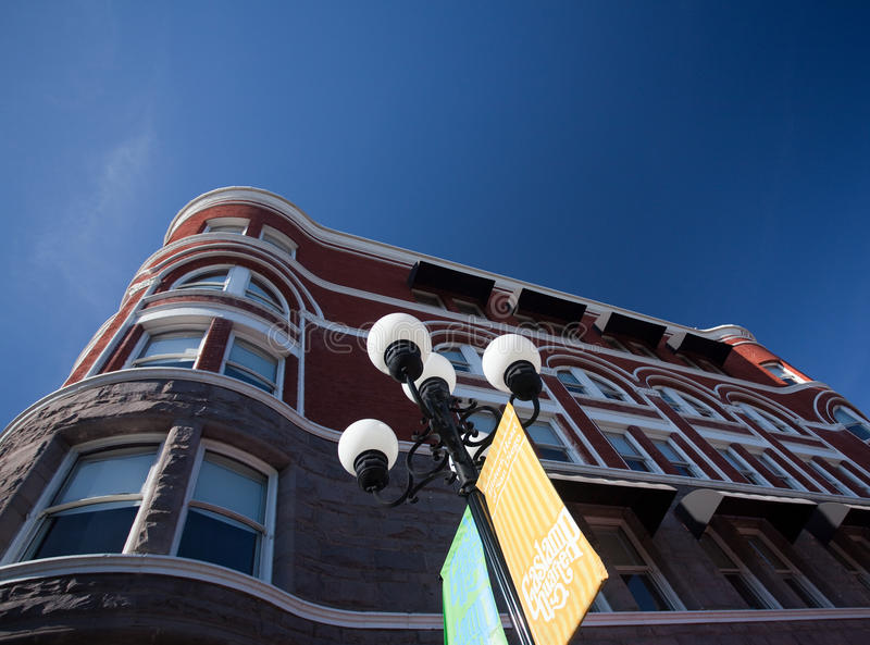 Keating Building in San Diego Gaslamp District royalty free stock photo