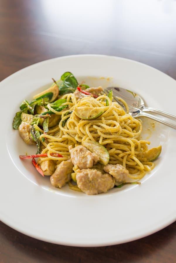 Keaw de spaghetti whan, cari thaïlandais de vert de style photos libres de droits