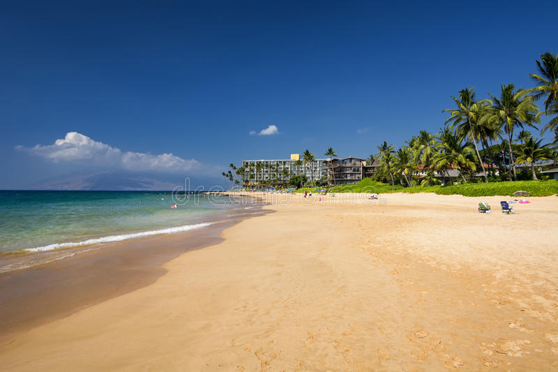 Keawakapu beach, south shore of Maui, Hawaii stock photos