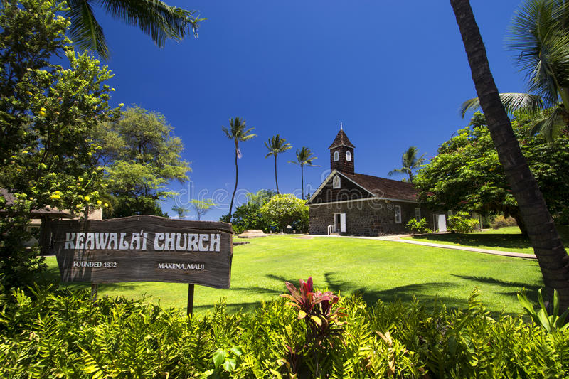 Keawalai kyrktar, södra Maui, Hawaii, USA arkivfoto