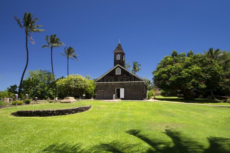 Keawalai kyrktar, södra Maui, Hawaii, USA royaltyfria foton