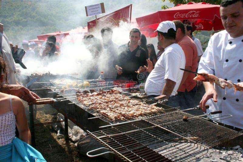 Kebab节日在Akhtala,亚美尼亚 免版税库存图片