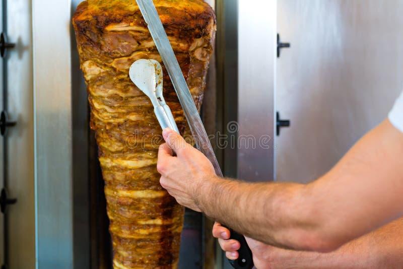 Kebab -与新鲜的成份的热的Doner 免版税图库摄影