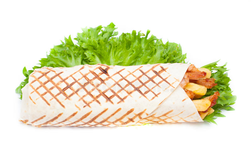 Kebab结束神色 免版税库存照片