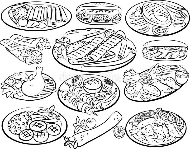 kebab royalty-vrije illustratie
