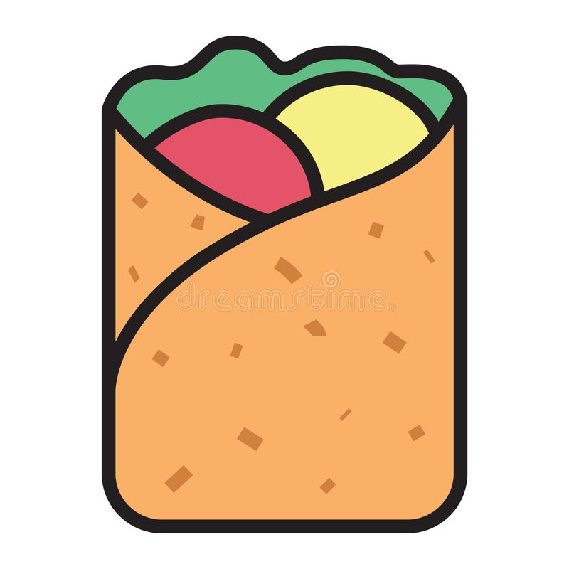 kebab illustration stock