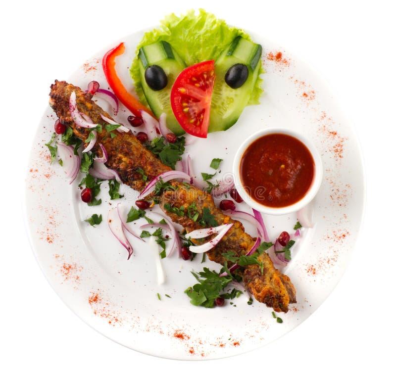Kebab aislado imagen de archivo