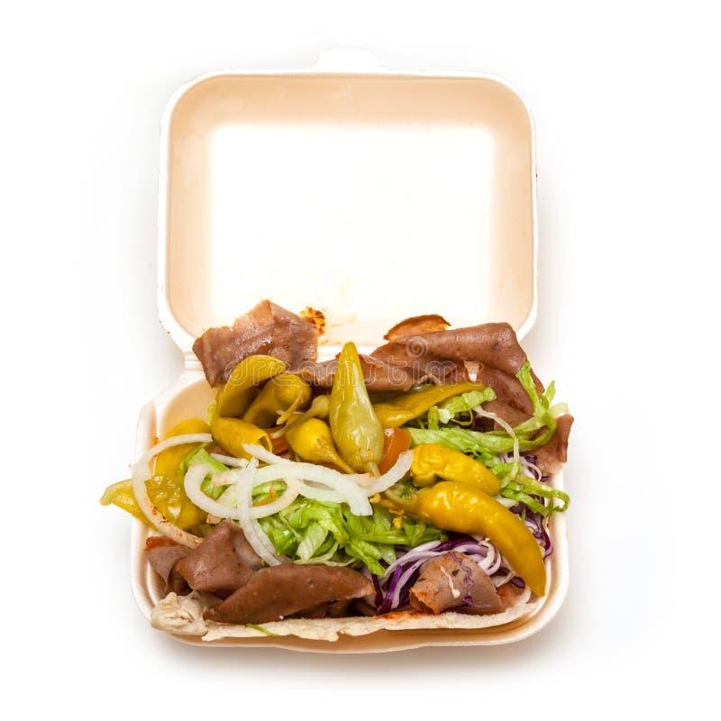 Kebab asportabile del pollo fotografie stock