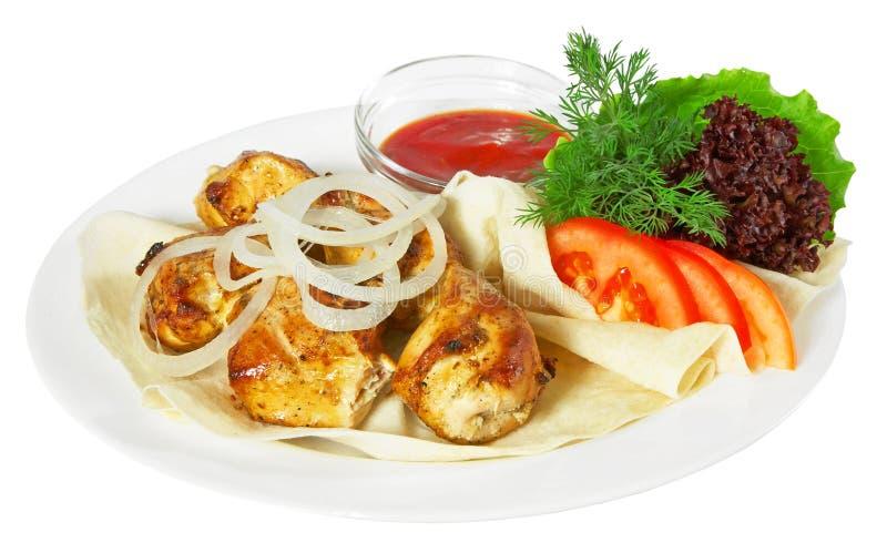 Kebab avec le sause image libre de droits