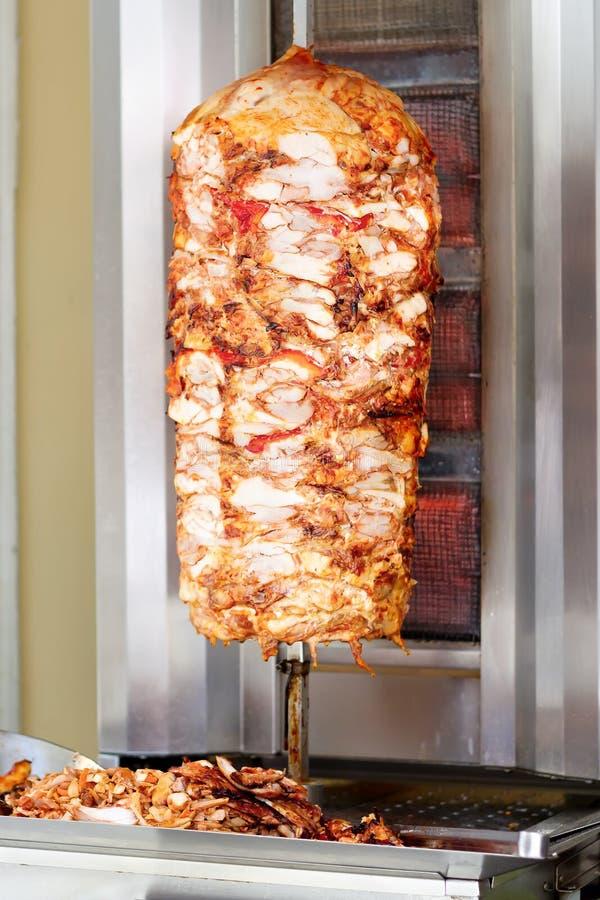 Kebab bij de grill royalty-vrije stock fotografie