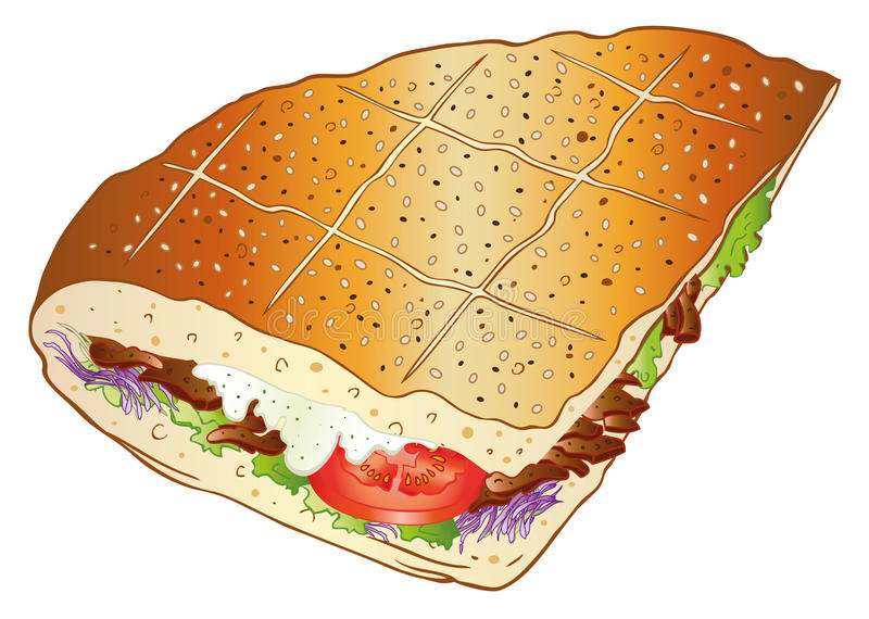 Download Kebab, Bread, Salad Stock Photos - Image: 33936873