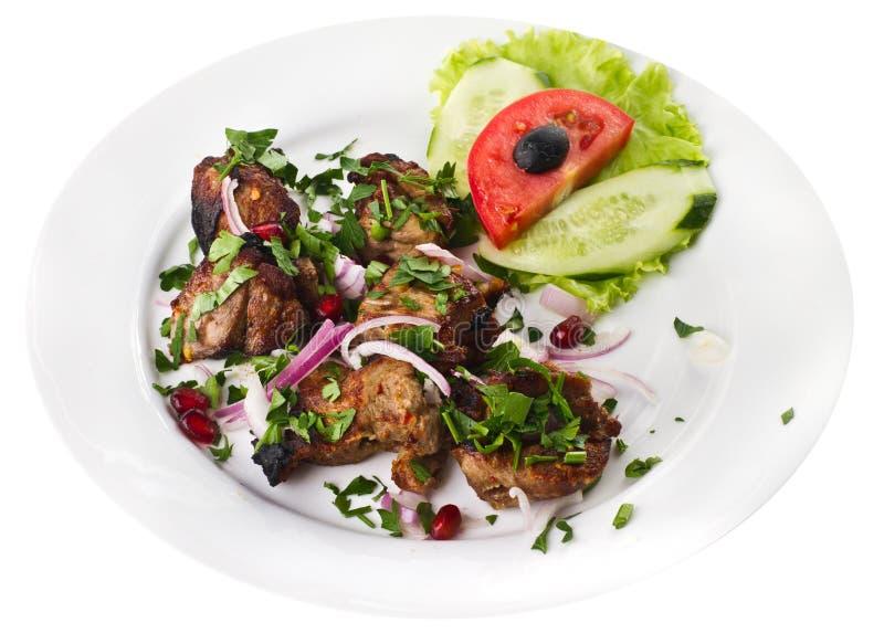 Kebab con las verduras fotos de archivo
