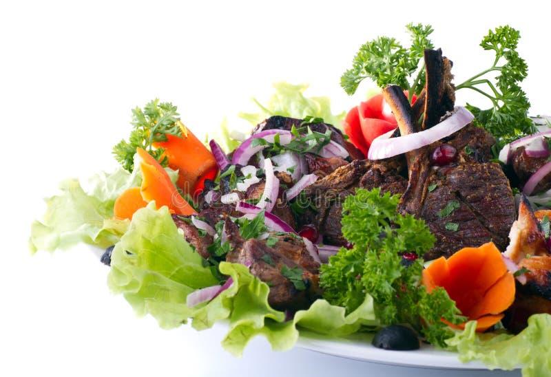 Kebab con las verduras fotografía de archivo libre de regalías