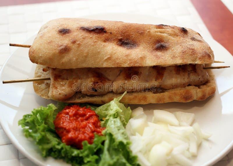 Kebab da galinha fotos de stock