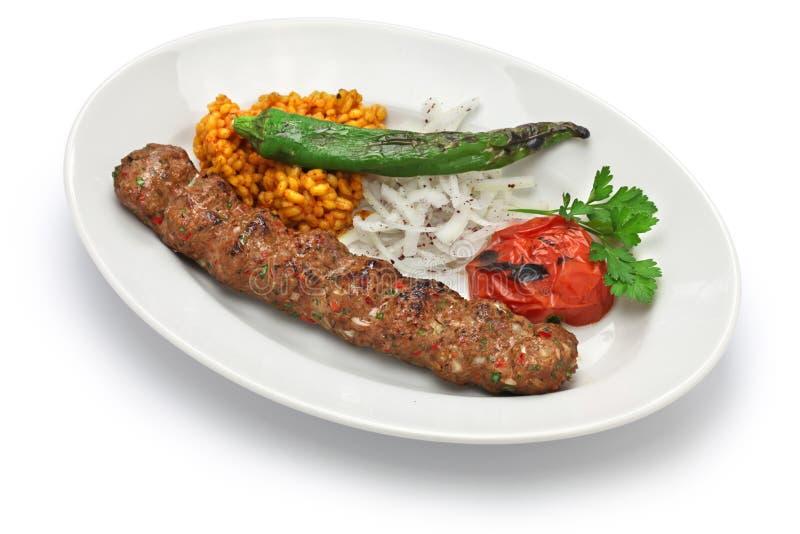 Kebab de Adana, comida turca foto de archivo libre de regalías