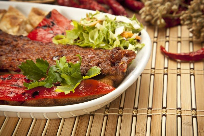 Kebab de Adana del turco foto de archivo libre de regalías