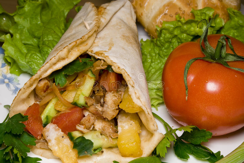 Kebab de Dyuner images libres de droits