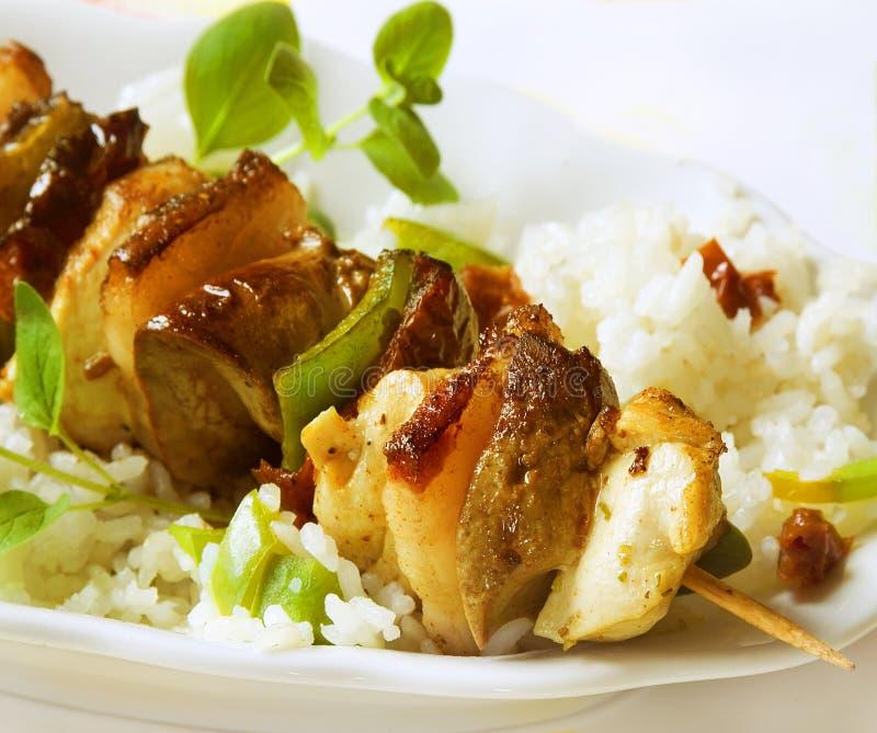 Kebab de gril image libre de droits