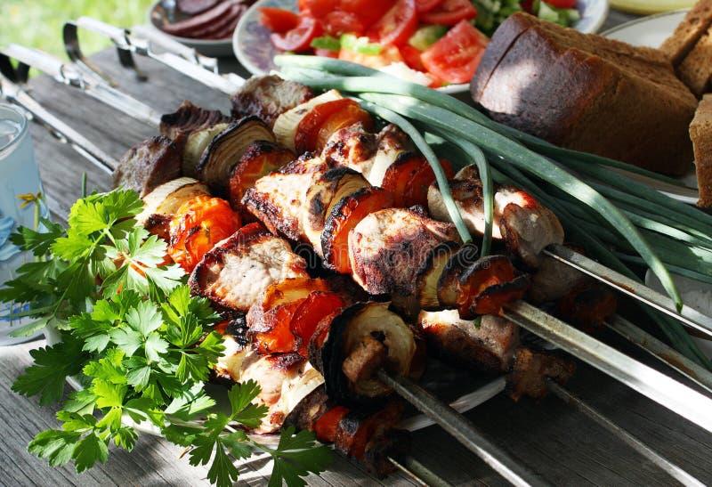 Kebab de Shish fotografía de archivo libre de regalías
