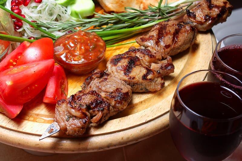Kebab de Shish fotos de stock royalty free