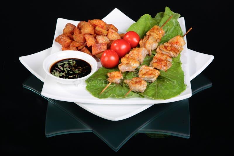 Kebab de shish de poulet image stock