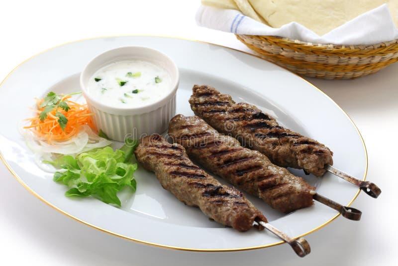 Kebab de tierra del cordero imagenes de archivo