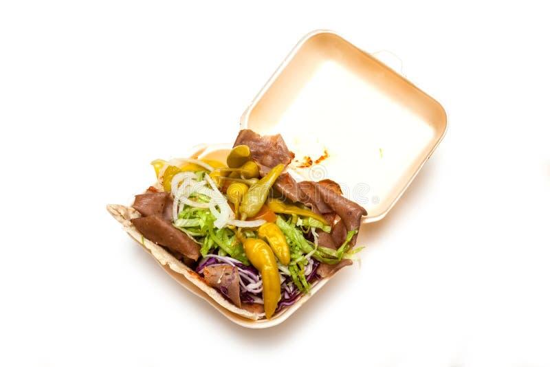 Kebab del doner dell'agnello immagine stock