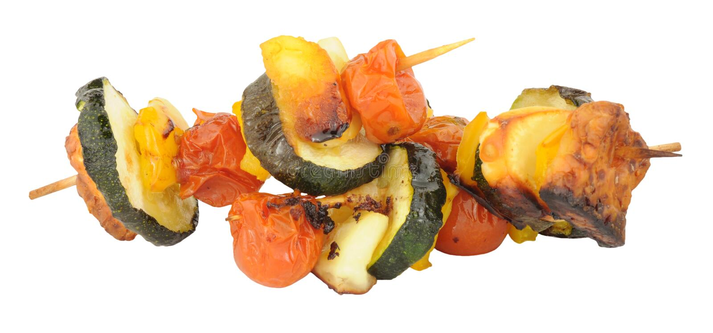 Kebab del formaggio e della verdura di Halloumi immagini stock libere da diritti
