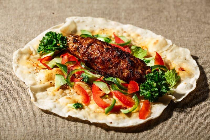 Kebab del kofte di Shish immagine stock