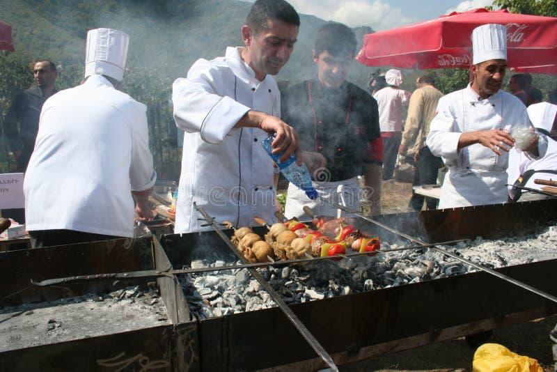 Kebab festival in Akhtala , Armenia royalty free stock photography