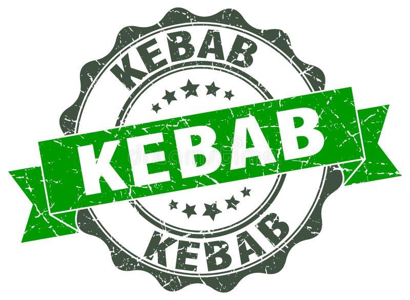 kebab foka znaczek ilustracji