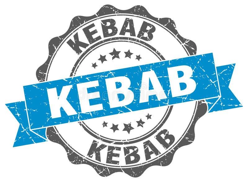 kebab foka znaczek ilustracja wektor
