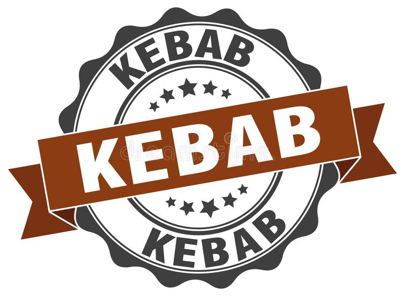 kebab foka znaczek royalty ilustracja